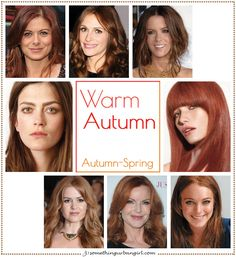 Warm Autumn, Autumn-Spring seasonal color celebrities by…