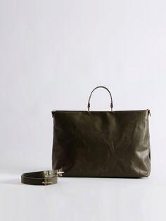 Dark green leather bag, Messenger Bag, Crossbody bag, Vegetable tanned leather on Etsy, $390.00