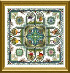Cross stitch mandalas by Martina Rosenberg.