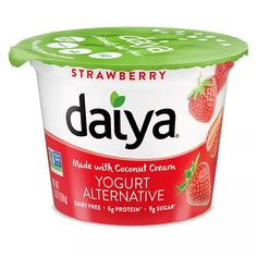Mr Case Supplier of Daiya Greek Yogurt Alternative Black Cherry - New delivery to your home or office in Toronto, Ontario, Canada. comes in a case of g Dairy Free Yogurt, Dairy Free Cheese, Coconut Yogurt, Greek Yogurt, Fruit Yogurt, Elderberry Juice, Food Inc, Plant Based Protein, Chia Pudding