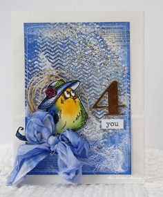 Anne's paper fun: Tim Holtz Crazy Birds using Tim Holtz, Ranger, Idea-ology, Sizzix and Stamper's Anonymous products; Aug 2015
