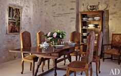 Traditional Dining Room by Pierre Cardin in Provence, France