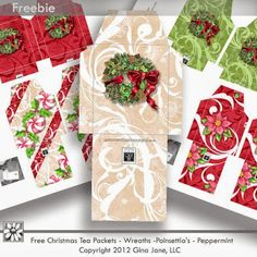 Your Free Art: Digital Clipart Scrapbook Crafts Borders Printable Stamps Cards #tea #christmas #crafts