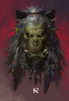 Grom Hellscream by ruan_jia (Ruan Jia) - Digital ArtLords Warcraft Art, World Of Warcraft, Creature Feature, Creature Design, Grom Hellscream, Tolkien, Character Illustration, Illustration Art, Medieval