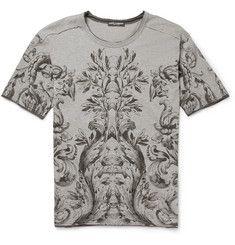 #Dolce & #Gabbana#Botanical-Print Wool-Blend Jersey T-#Shirt|MR PORTER