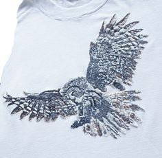 Barn Owl T-shirt, Silver Owl with Navajo quote Painted Tshirt – QuorArtisticTshirts