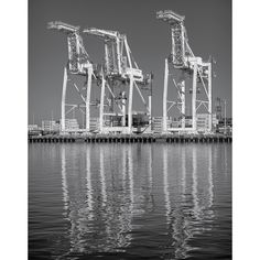 Loading Cranes #10, Port of Oakland: A Black and White Photograph 12x15 by NigrumEtAlbum on Etsy https://www.etsy.com/listing/175635443/loading-cranes-10-port-of-oakland-a