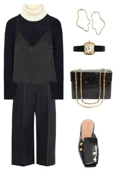 """""""Untitled #1058"""" by lucyshenton ❤ liked on Polyvore featuring CÉLINE, Acne Studios, Rosetta Getty, Protagonist and Chanel"""