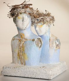and another gorgeous paper pulp and found object sculpture by Kathleen Girdler Engler