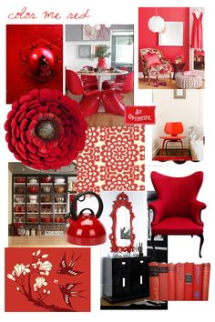 Red Interior Design Ideas for Modern Houses Un Red interiors