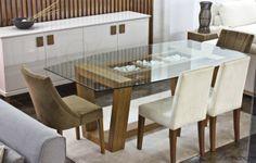 Cam Masa ile modern yemek odası takımları archidecors