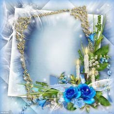 Click to add a photo to this blue frame Birthday Photo Frame, Happy Birthday Frame, Happy Birthday Wallpaper, Birthday Frames, Rose Frame, Flower Frame, Frame Border Design, Creative Flower Arrangements, Memory Frame