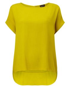 Phase Eight Lana Crepe Blouse, Chartreuse Yellow Blouse, Yellow Top, Latest Fashion For Women, Womens Fashion, Crepe Top, Yellow Shirts, Phase Eight, Workout Tops, Short Sleeve Blouse