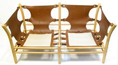 "What the frame looks like for a 1970s 2-seater ""ilona"" sofa"