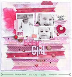 So much pink! Love this layout spotted by Corrie Jones in the TwoPeas gallery!