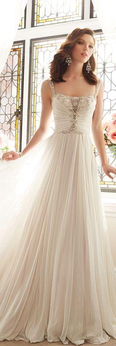The Sophia Tolli Spring 2016 Wedding Dress Collection - Style No. Y11644 - Talulla #chiffonweddingdress