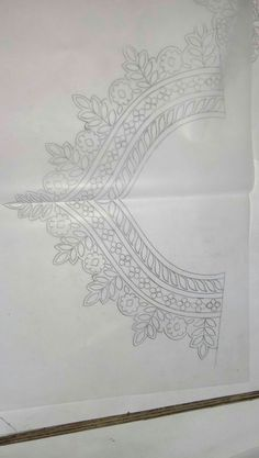 Hand Embroidery Design Patterns, Hand Embroidery Videos, Hand Embroidery Stitches, Indian Embroidery Designs, Dress Design Drawing, Jewelry Design Drawing, Embroidery On Kurtis, Embroidery Fashion, Tattoo Mama