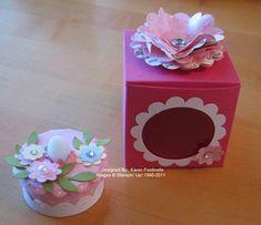 Tea Light Birthday Cake and Box