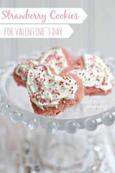 Delicious Strawberry Cookies using cake mix...perfect for Valentine's Day
