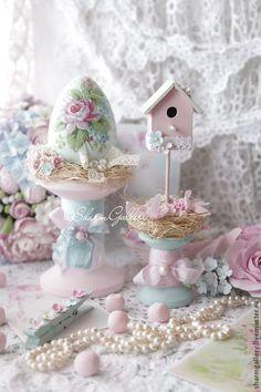"""Пасхальная композиция """"Delicate Easter"""", ручная, авторская работа. - подарки ручной работы"""