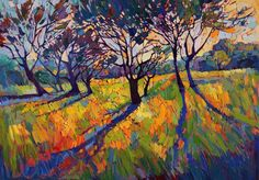"""Paso Robles original oil painting """"Crystal Light II"""" by California painter Erin Hanson"""