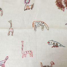 Sophie Digard Linen Animal Stole / Lignt Green - taste&touch ウェブショップ