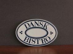 Vintage Dansk Bistro Trivet or Spoon Rest - Niels Refsgaard Design - Dansk Designs Blue & White Porcelain - Dansk Advertising - Dansk Dish at Eight Mile Vintage on Etsy