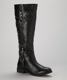 Look what I found on #zulily! Black Studded Alice Boot by Ruby Shoes #zulilyfinds