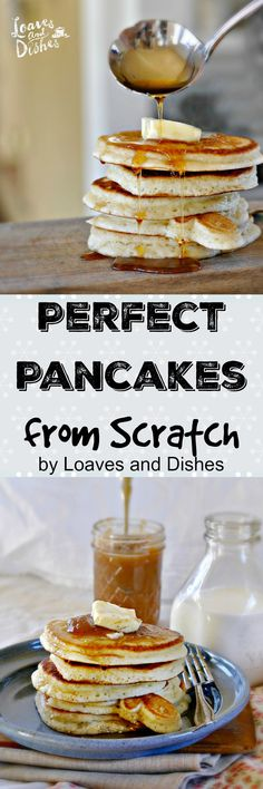 This recipe for Perfect Pancakes from Scratch will have you whipping up homemade pancakes and hotcakes at just any moment. Easy, fun and WAY better than a premade box variety. Try some today! Super Easy!