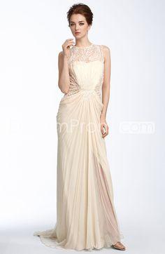 Gorgeous Empire Lace Sweep/Brush Scoop Neckline Wedding Dress