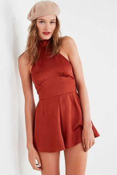 Slide View: 1: Finders Keepers Afterglow Halter Romper