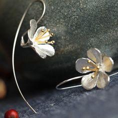 New Fashion 925 Sterling Silver Flower Long Tassel Earrings For Women Lady Earring Elegant Sterling-silver-jewelry brincos A500 #Affiliate