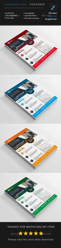 Corporate Business Flyer by creative_aritist Corporate Flyer, Corporate Business, Business Design, Web Design, Flyer Design, Graphic Design, Lubbock Christian University, Business Flyer Templates, School Design