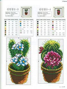 cacti cross stitch point de croix