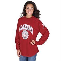 Alabama Crimson Tide Women's Edith Long Sleeve Shirt - Crimson
