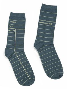 One very simple thing you can go to elevate your style is buy great socks. Solids and prints. Especially prints. This pair of Library Card Socks by Out of Print is a perfect pair to start with. Available from @bridgeandburn #nattyguy