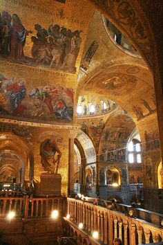 Basilica di San Marco Interior (1) by shuwesley, via Flickr
