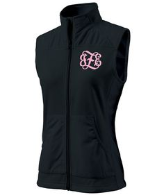 Black Monogrammed Breeze Vest by Charles River by LifeAStitch