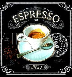 #Chalkboard art ToniK ⊱CհαƖҜ ℒЇℕ℮⊰  #Espresso #Coffee art