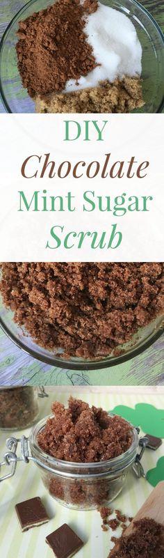 DIY chocolate mint scrub #HowTo #DIY #greentea #scrub #beauty