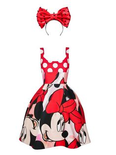 And here we though Mickey was the fine one! Pictures of Minnie Mouse´s designer collection have emerged just one day before it scurries down the runway in London, and it´s far from. Disney Dresses, Disney Outfits, Cute Outfits, Disney Clothes, Cute Disney, Disney Style, Disney Cars, Minnie Mouse Costume, Minnie Dress