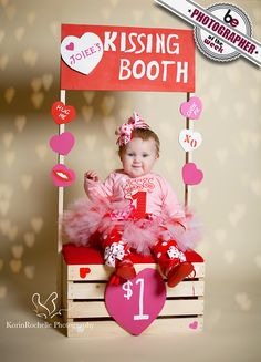 Baby Valentine's Day outfits for your little darlingHappy Valentine's Day babycute adorable baby valentines photo shoot ideas kisses booth, chalk .cute adorable baby valentine's day photo shoot idea kiss booth, blackboard kisses, suit and tie-dye Valentines Bricolage, Kinder Valentines, Valentines Day Baby, Valentines Day Pictures, Valentine Nails, Holiday Pictures, Valentine Ideas, Photos Saint Valentin, Saint Valentin Diy