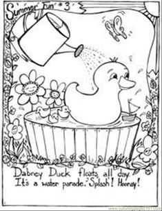 Summer Coloring Pages | free printable coloring page Summer Fun Coloring Page 3 (Natural World ...