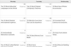 An editorial calendar in WordPress