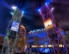 It's a poor-man's Times Square… LA's attempt to make a cool hip place outside of the Staples center is the Nokia Blade Runner-esque montage of crass commercialism… It seems like a very strange place to me – it was pretty empty when I was there.    - Photo from #treyratcliff Trey Ratcliff at http://www.StuckInCustoms.com     - LA, United States