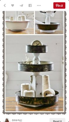 Vintage cake pans repurposed