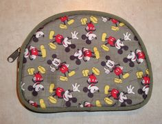 Disney Mickey Mouse Green Change Coin Makeup Purse