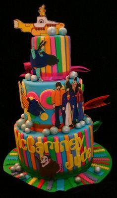 Beatle Mania cake by Tammie Coe Cakes (http://www.tammiecoecakes.com/cakes/wedding.php).
