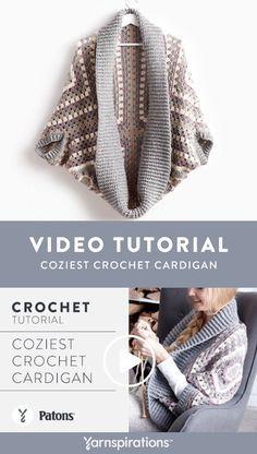 Crochet A Cardigan: Coziest Crochet Cardigan : Free Crochet Cardigan Pattern Crochet Cocoon, Crochet Wool, Crochet Shawl, Wool Yarn, Free Crochet, Crochet Sweaters, Crochet Cardigan Pattern, Granny Square Crochet Pattern, Crochet Jacket