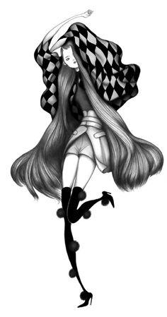 Fashion illustrator Laura Laine